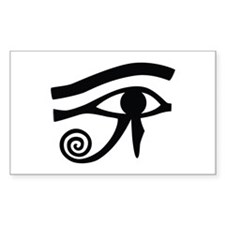 Eye of Horus Hieroglyphic Rectangle Decal