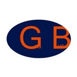 Gus Bus Oval Car Magnet