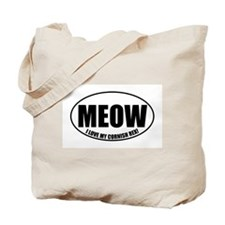 Cute Cat human Tote Bag