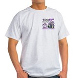 Holiday Penguins Fibromyalgia T-Shirt