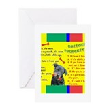 Rottweiler items Greeting Card