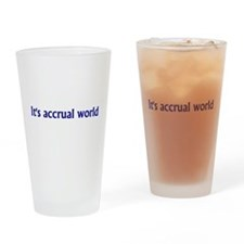 Cute Accountant Drinking Glass