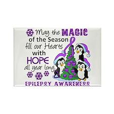 Holiday Penguins Epilepsy Rectangle Magnet