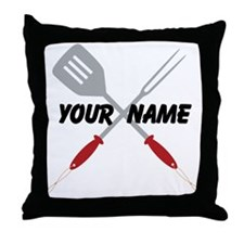 Personalized BBQ Barbecue Throw Pillow