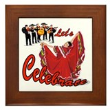 Mariachis and Mexican Dancer Framed Tile