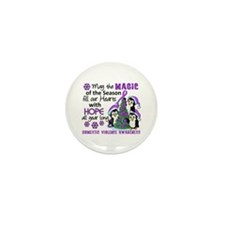 Holiday Penguins Domestic Violence Mini Button (10