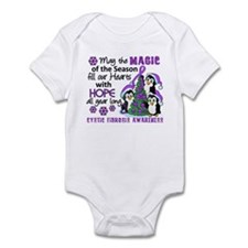 Holiday Penguins Cystic Fibrosis Infant Bodysuit