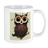 Coffee Bean Owl Small Mug