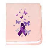 Purple Awareness Ribbon baby blanket