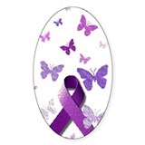 Purple Awareness Ribbon Decal