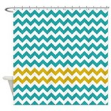 Chevron shower Shower Curtains