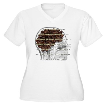 caffeinemantra Women's Plus Size V-Neck T-Shirt