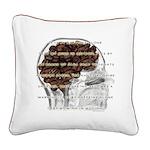 Caffeine Mantra Square Canvas Pillow