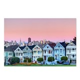 Row of houses known as 'Painted Ladies' just off o
