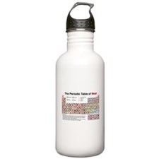 The Periodic Table of Meat Water Bottle