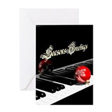 Concert Piano Seasons Greetings, Greeting Card