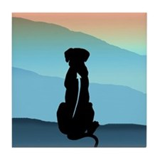 Blue Mt Ridgeback Tile Coaster