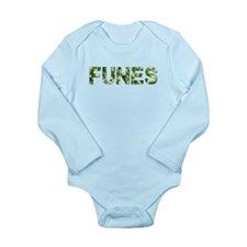 Funes, Vintage Camo, Long Sleeve Infant Bodysuit
