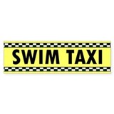 Swim Taxi Bumper Car Sticker