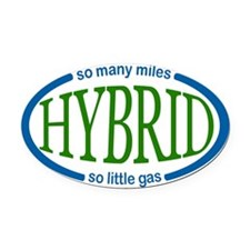 Hybrid Car Magnet Oval Car Magnet