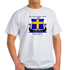 Swedish Viking Ancestors T-Shirt (Grey)