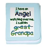 ANGEL GREAT GRANDPA.png baby blanket