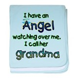 I HAVE AN ANGEL GRANDMA.png baby blanket