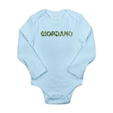 Giordano, Vintage Camo, Long Sleeve Infant Bodysui