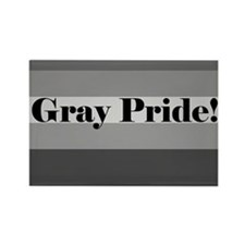 """Gray Pride"" Rectangle Magnet"