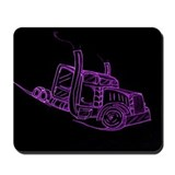Purple Neon Big Truck Mousepad