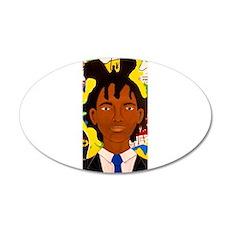 Jean-Michel Basquiat 35x21 Oval Wall Decal