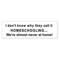 Homeschooling bumper sticker