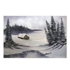 Snowbound Cabin Postcards (Package of 8)