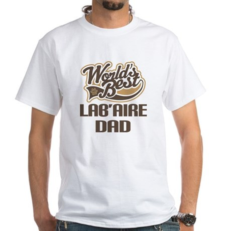 Lab'Aire Dog Dad White T-Shirt