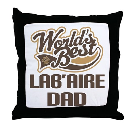 Lab'Aire Dog Dad Throw Pillow