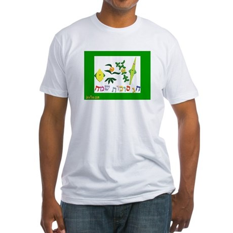 HAPPY SUKKOT HEBREW Fitted T-Shirt
