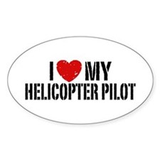 I Love My Helicopter Pilot Bumper Stickers