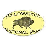 Yellowstone National Park (Bison) Bumper Stickers