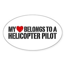 My Heart Helicopter Pilot Bumper Stickers