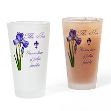Cute Iris Drinking Glass
