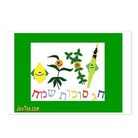 Sukkot Happy Succah Time Postcards (Package of 8)