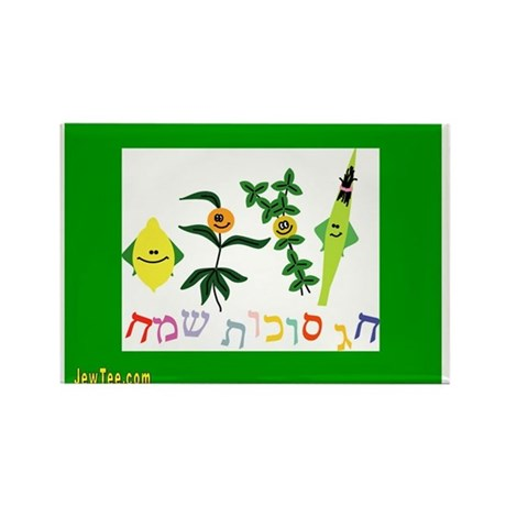 Sukkot Happy Succah Time Rectangle Magnet