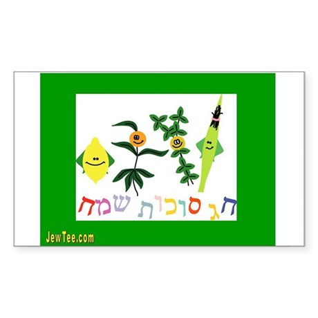Sukkot Happy Succah Time Rectangle Sticker
