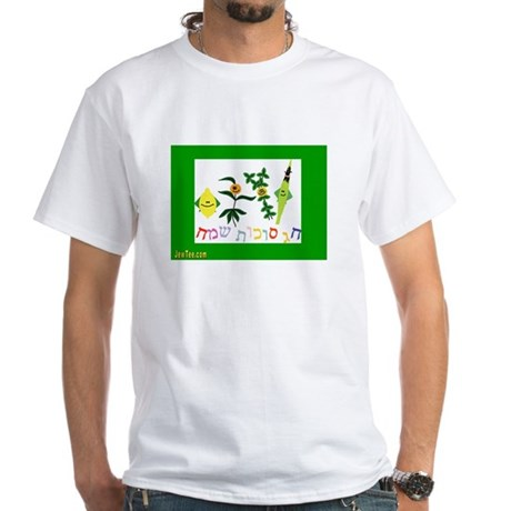 Sukkot Happy Succah Time White T-Shirt