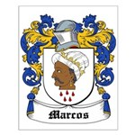 Marcos Coat of Arms Small Poster