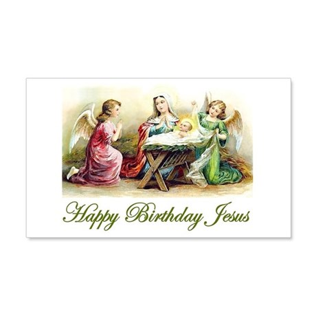 Happy Birthday Jesus 20x12 Wall Decal