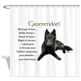 Groenendael Puppy Shower Curtain