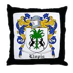 Llopis Coat of Arms Throw Pillow