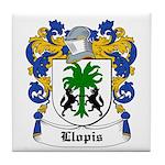 Llopis Coat of Arms Tile Coaster