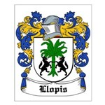 Llopis Coat of Arms Small Poster